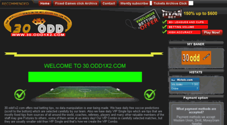 Visit 30 odd1x2 com - Fixed Matches big odd free fixed matches