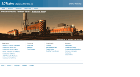 Visit 3dtrains com - 3DTrains - Add-ons for Microsoft Train