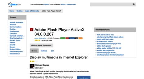 Visit Adobe-flash-player-activex updatestar com - Adobe Flash Player