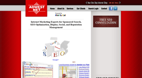 Visit Adwestnet com - Search Engine Optimization Los Angeles