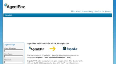 Visit Agentrez com - AgentRez and Expedia TAAP are Joining