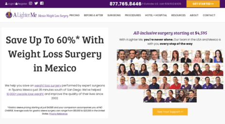 Visit Alighterme com - Bariatric Weight Loss Surgery #1 in Mexico