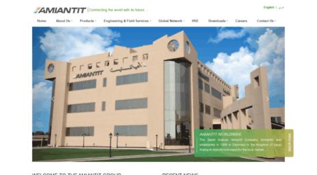 Visit Amiantit com - Amiantit - The Saudi Arabian Amiantit Company