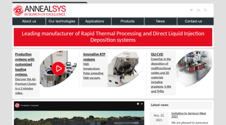 Visit Annealsys com - RTP, DLI-CVD & ALD systems for