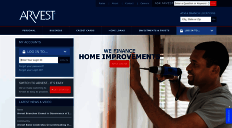 Visit Arvest com - Arvest Bank - Banking, Investments