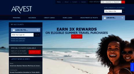 Visit Arvest com - Arvest Bank - Banking, Investments, Mortgage Loans