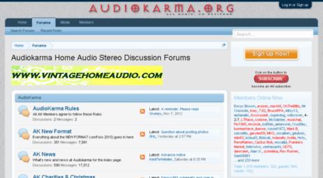 Visit Audiokarma net - Audiokarma Home Audio Stereo Discussion Forums