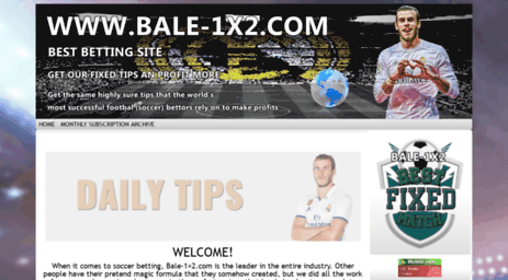 Visit Bale-1x2 com - Fixed Matches betting soccer predictions HT-FT