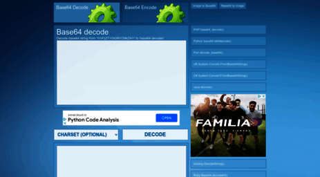 Visit Base64decode net - Base64 Decode - Online Tool