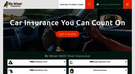 Be Wiser Car Insurance >> Visit Bewiser Co Uk Be Wiser Insurance Quality Car Van