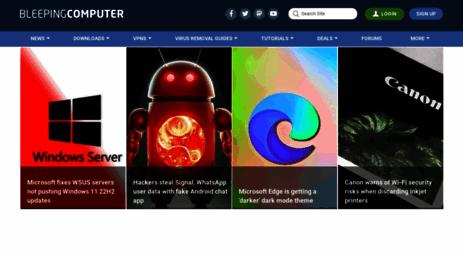 Visit Bleepingcomputer com - BleepingComputer com - News
