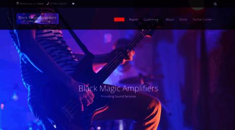 Visit Bmamps com - Black Magic Amplifiers - Black Magic Amplifiers