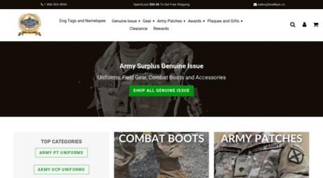 Visit Bradleyssurplus com - Bradley's Military and Army