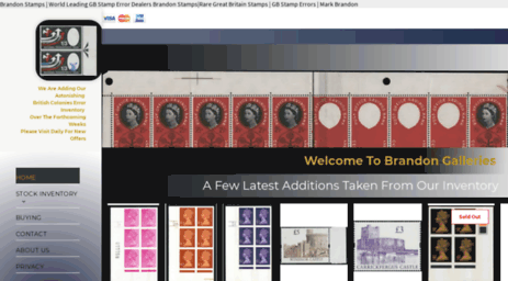 Visit Brandonstampauctions com - Welcome To Regal Stamps