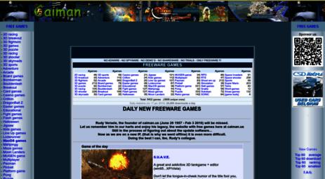 Visit Caiman Us Caiman Free Games Free Utilities Freeware