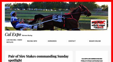 Visit Calxharness com - Cal Expo Horse Racing - Horse Racing