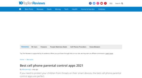 cell phone monitoring top ten reviews
