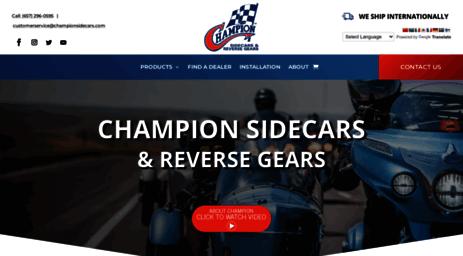 Visit Championsidecars com - Champion Trikes & Sidecars