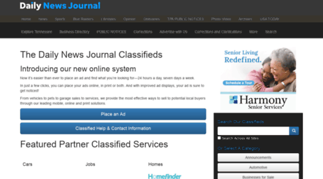 Visit Classifieds dnj com - The Daily News Journal - Classifieds