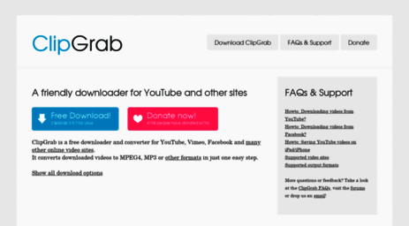 Visit Clipgrab org - ClipGrab - Free YouTube Downloader & Converter