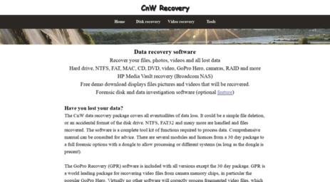 Visit Cnwrecovery com - Forensic, Video and Data Recovery