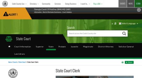 Visit Cobbstatecourtclerk com - State Court Clerk | Cobb