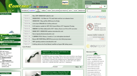 Visit Codecard lt - CODECARD EU - advanced tools for car