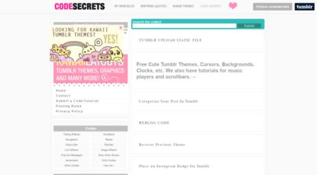 Visit Codesecrets tumblr com - C O D E S E C R E T S