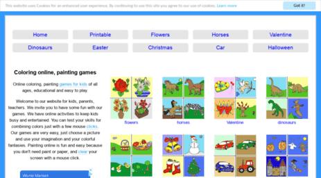 Visit Coloringpaintinggames.com - Coloring online, painting ...