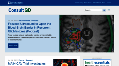 Visit Consultqd clevelandclinic org - Consult QD – A site for