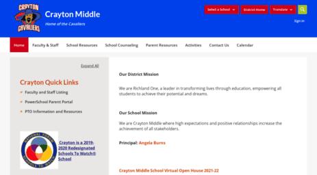 Visit Crayton richlandone org - Crayton Middle / Homepage