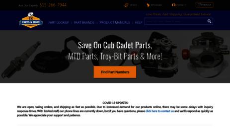 Visit Cubcadetpartsnmore com - Cub Cadet Parts, Cub Parts