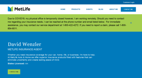 Metlife Life Insurance >> Visit Davidwenzler Metlife Com David Wenzler Auto Home