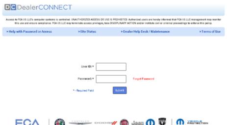 Visit Dealerconnect com - DealerCONNECT Login