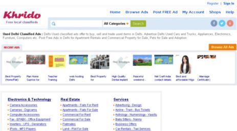Visit Delhi khrido com - Used Delhi Classified Ads - Free Delhi