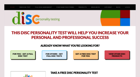 Visit Discpersonalitytesting com - Home - DISC Personality