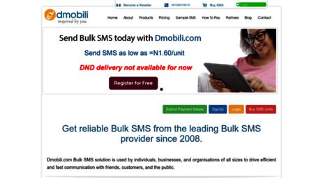 Visit Dmobili com - Bulk SMS Marketing for Nigeria and