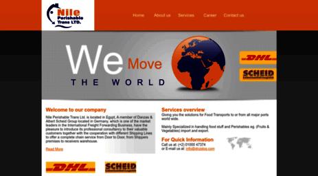 Visit Dnzslog com - ::Nile Perishable Trans  LTD: Freight
