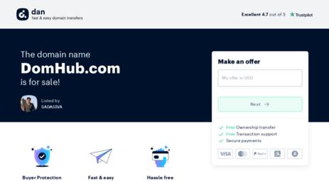 Visit Domhub com - Sell Domain Names - Domain Marketplace