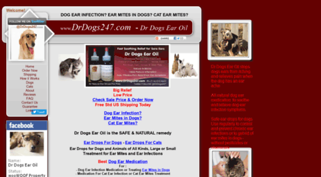 Visit Drdogs247 com - Dr Dogs Ear Oil - HOME