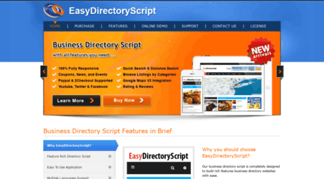 Visit Easydirectoryscript com - PHP Directory Script, PHP Yellow