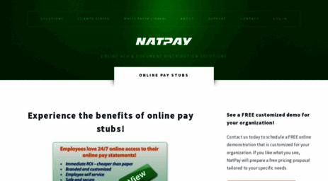 Visit Easystub com - Online Pay Stubs - NatPay