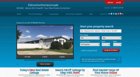 Visit Edmontonhomesonsale com - Best Edmonton Real Estate Property