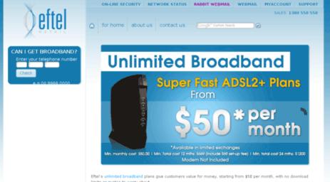 Visit Eftelretail Com Broadband Unlimited Adsl Adsl2