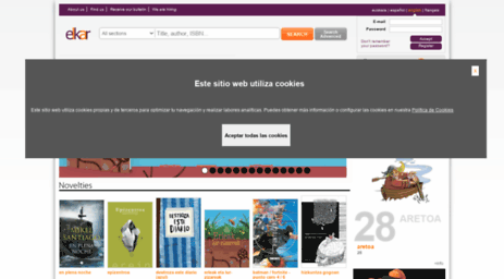 Visit Elkar com - Elkar online bookstores: book, music, DVD
