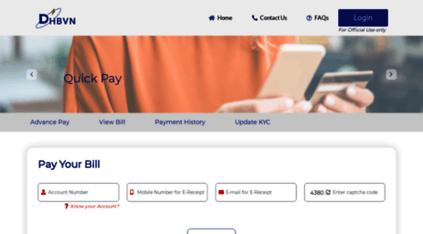 Visit Epayment dhbvn org in - Dhbvn Electricity Bill Payment