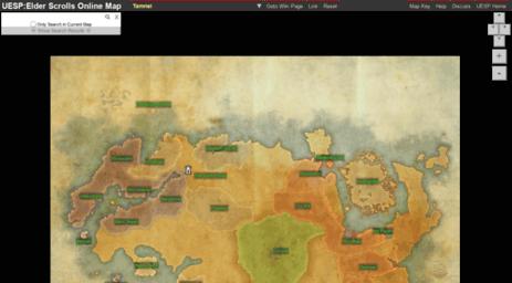 Visit Esomap.uesp.net - UESP:Elder Scrolls Online Map.