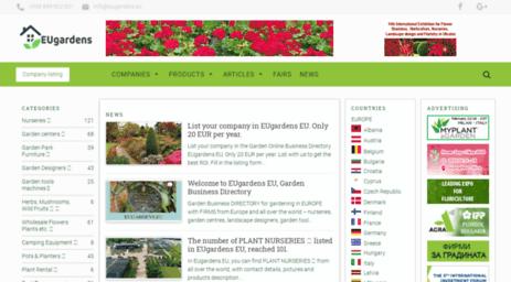 Visit Eugardens eu - EU Gardens EU - Garden Business