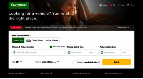 Visit Europcar Ch Europcar Book Car Van Hire Online In