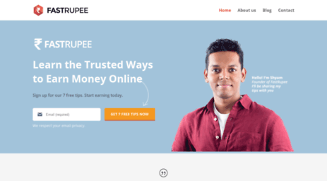 Visit Fastrupee com - How to Earn Money Online in India
